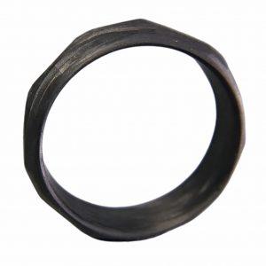 Carbon Fiber Faceted Ring