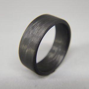 Carbon Fiber Unidirectional Black Ring