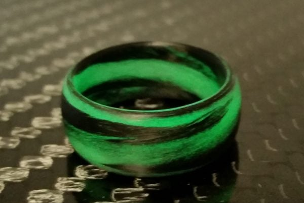 Green Grey Marble Glow