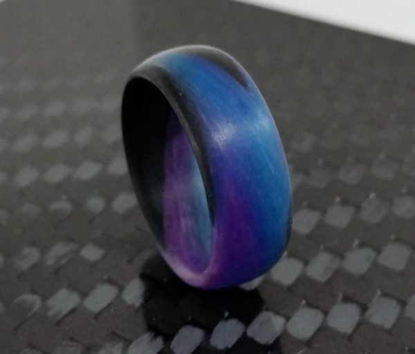 purple and blue marble glow