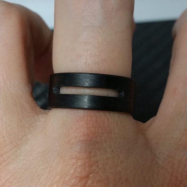 Carbon Fiber Ring with a Modern Cutout