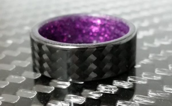 Twill purple sparkle interior