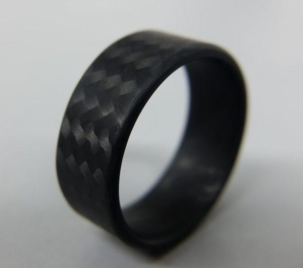 Twill matte ring