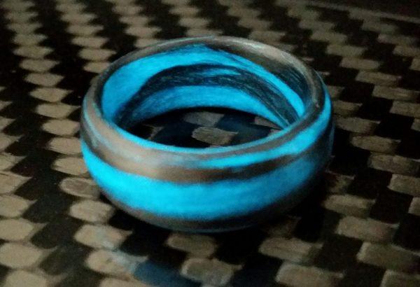 Grey Aqua Marble Glow
