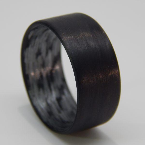 Carbon Fiber Unidirectional Black Ring with Texalium Interior