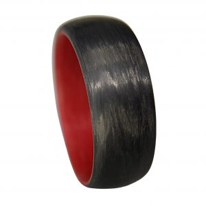 Carbon Fiber Legacy Ring with Red Interior