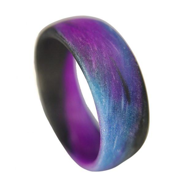 blue purple black marble