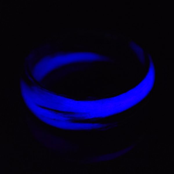 Carbon Fiber Purple and Black Marbled Glow Ring