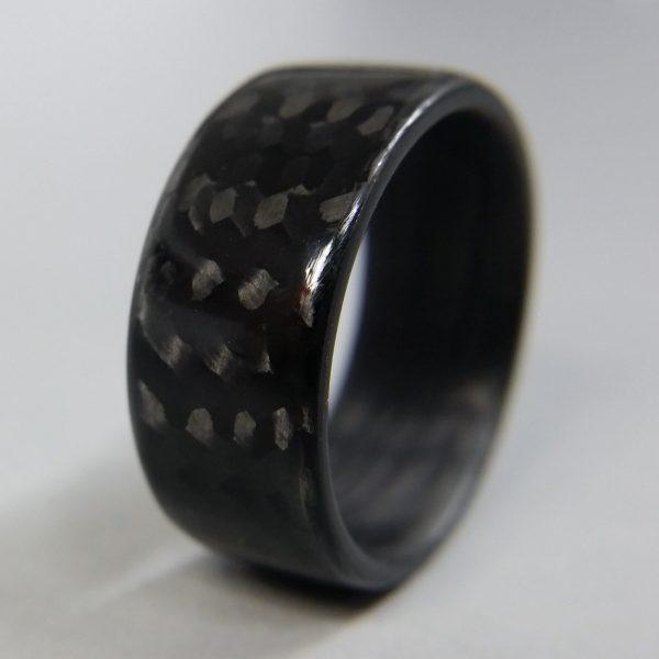 Carbon Fiber Twill Gloss Ring