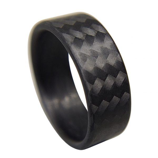 Carbon Fiber Twill Matte Ring