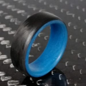 Carbon ring with blue glowing interior