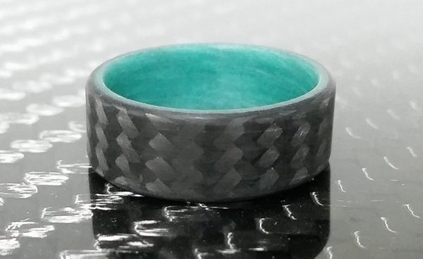 Carbon Twill Teal Glowing Interior