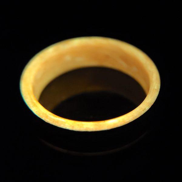Carbon Fiber Ring with Orange Glowing Interior