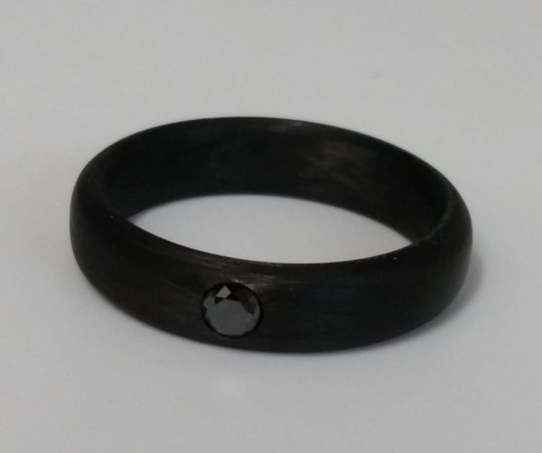 3mm Black Diamond Solitaire