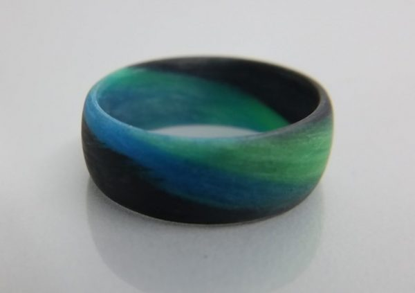 Green Blue and Black Marble