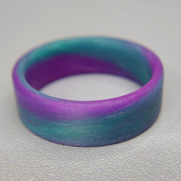 Teal and purple swirl glow